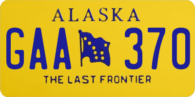 AK license plate GAA370