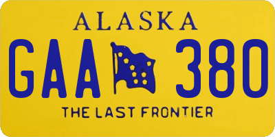 AK license plate GAA380