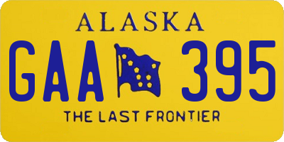 AK license plate GAA395