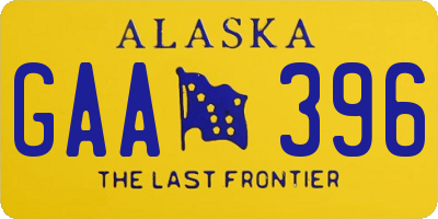 AK license plate GAA396