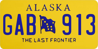 AK license plate GAB913