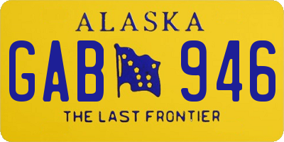 AK license plate GAB946