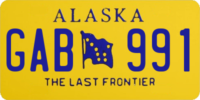 AK license plate GAB991