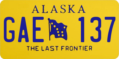 AK license plate GAE137