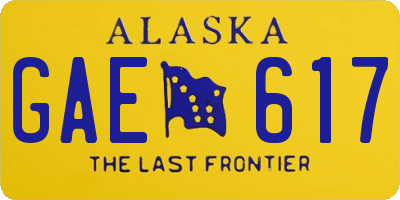 AK license plate GAE617