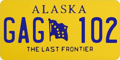 AK license plate GAG102