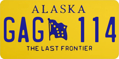 AK license plate GAG114