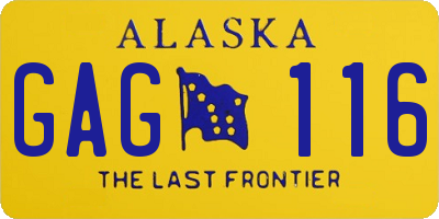 AK license plate GAG116