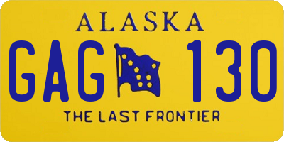 AK license plate GAG130