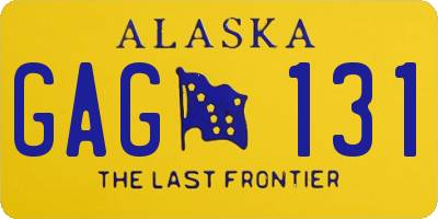 AK license plate GAG131