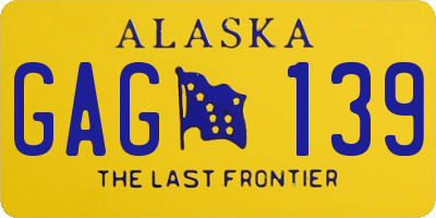 AK license plate GAG139