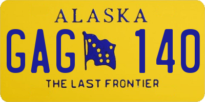 AK license plate GAG140