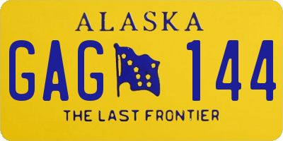 AK license plate GAG144