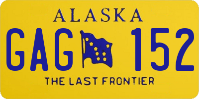 AK license plate GAG152