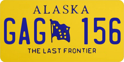 AK license plate GAG156