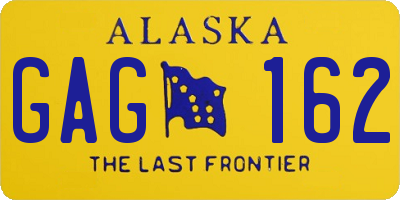 AK license plate GAG162