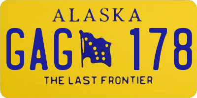 AK license plate GAG178