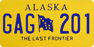AK license plate GAG201