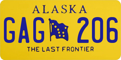 AK license plate GAG206