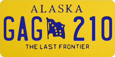AK license plate GAG210