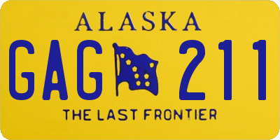 AK license plate GAG211