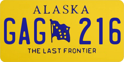 AK license plate GAG216