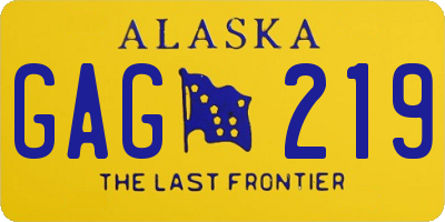 AK license plate GAG219