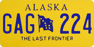 AK license plate GAG224