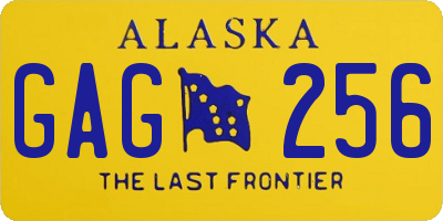 AK license plate GAG256