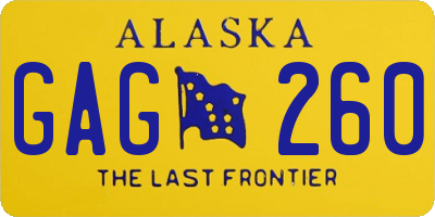 AK license plate GAG260