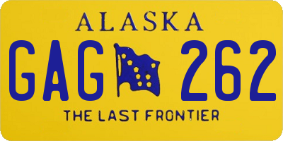 AK license plate GAG262