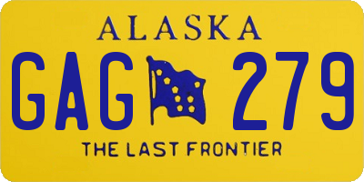 AK license plate GAG279