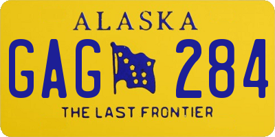 AK license plate GAG284