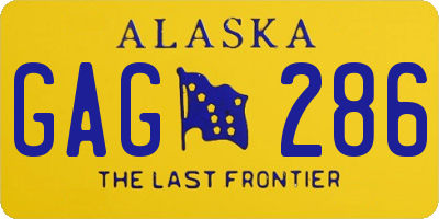 AK license plate GAG286