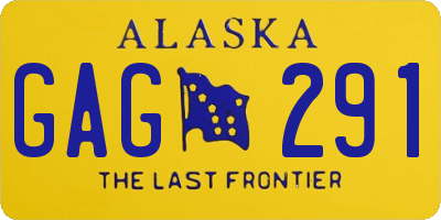 AK license plate GAG291