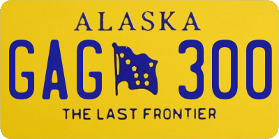 AK license plate GAG300