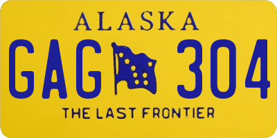 AK license plate GAG304