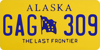 AK license plate GAG309