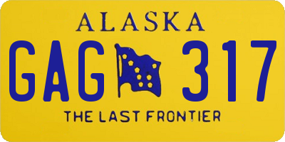 AK license plate GAG317