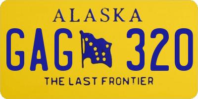 AK license plate GAG320