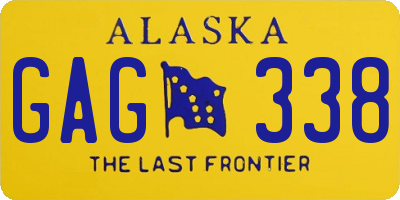 AK license plate GAG338