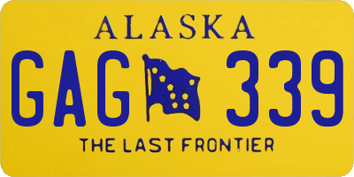 AK license plate GAG339