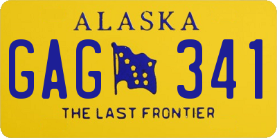 AK license plate GAG341