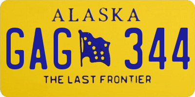 AK license plate GAG344