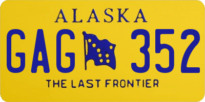 AK license plate GAG352