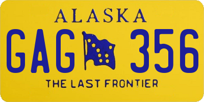 AK license plate GAG356