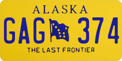 AK license plate GAG374