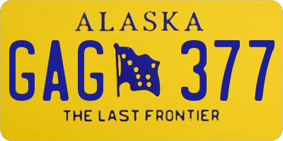 AK license plate GAG377