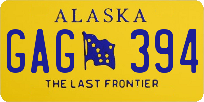 AK license plate GAG394