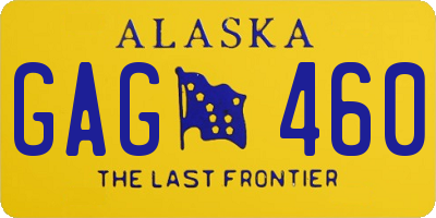 AK license plate GAG460